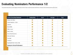 Star Employee Evaluating Nominators Performance Average Portrait PDF
