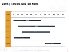 Star Employee Monthly Timeline With Task Name Ppt File Graphics Example PDF