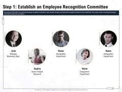 Star Employee Step 1 Establish An Employee Recognition Committee Infographics PDF