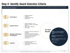 Star Employee Step 4 Identify Award Selection Criteria Infographics PDF