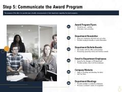 Star Employee Step 5 Communicate The Award Program Designs PDF