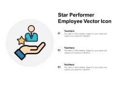 Star Performer Employee Vector Icon Ppt PowerPoint Presentation Ideas Portfolio