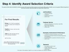 Star Performer Step 4 Identify Award Selection Criteria Ppt Show Demonstration PDF