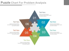 Star Puzzle Chart For Solution Strategy Powerpoint Slides