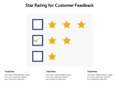 Star Rating For Customer Feedback Ppt PowerPoint Presentation Professional Graphics PDF