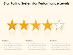 Star Rating System For Performance Levels Ppt PowerPoint Presentation File Tips PDF