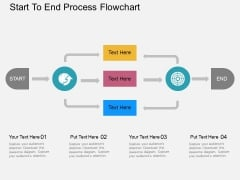 Start To End Process Flowchart Powerpoint Templates