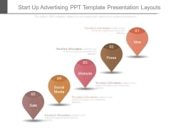 Start Up Advertising Ppt Template Presentation Layouts
