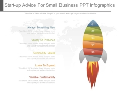 Start Up Advice For Small Business Ppt Infographics