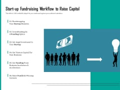 Start Up Fundraising Workflow To Raise Capital Ppt PowerPoint Presentation Show Information PDF