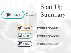 Start Up Summary Template 2 Ppt PowerPoint Presentation Infographics Microsoft