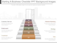 Starting A Business Checklist Ppt Background Images