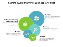 Starting Event Planning Business Checklist Ppt PowerPoint Presentation Slides Clipart Cpb