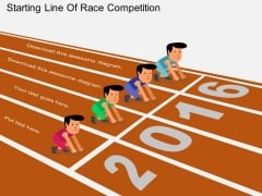 Starting Line Of Race Competition Powerpoint Template