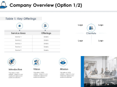 Startup Investment Ideas Company Overview Option Ppt Outline Infographic Template PDF