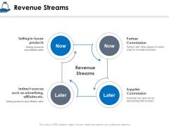 Startup Investment Ideas Revenue Streams Ppt Summary Slides PDF