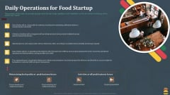 Startup Pitch Deck For Fast Food Restaurant Daily Operations For Food Startup Topics PDF