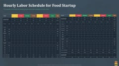 Startup Pitch Deck For Fast Food Restaurant Hourly Labor Schedule For Food Startup Information PDF