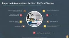 Startup Pitch Deck For Fast Food Restaurant Important Assumptions For Start Up Food Startup Designs PDF