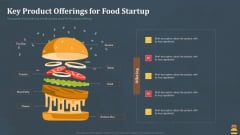 Startup Pitch Deck For Fast Food Restaurant Key Product Offerings For Food Startup Diagrams PDF