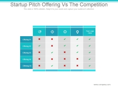 Startup Pitch Offering Vs The Competition Ppt PowerPoint Presentation Backgrounds