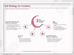 Startup Pitch To Raise Capital From Crowdfunding Exit Strategy For Investors Elements PDF
