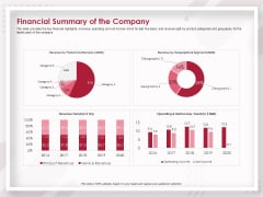 Startup Pitch To Raise Capital From Crowdfunding Financial Summary Of The Company Microsoft PDF