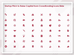 Startup Pitch To Raise Capital From Crowdfunding Icons Slide Ideas PDF