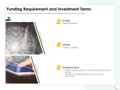 Startup Presentation For Collaborative Capital Funding Funding Requirement And Investment Terms Topics PDF