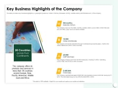 Startup Presentation For Collaborative Capital Funding Key Business Highlights Of The Company Ppt Summary PDF