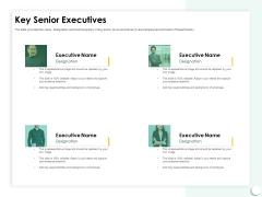 Startup Presentation For Collaborative Capital Funding Key Senior Executives Icons PDF