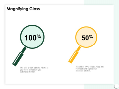 Startup Presentation For Collaborative Capital Funding Magnifying Glass Introduction PDF