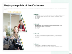 Startup Presentation For Collaborative Capital Funding Major Pain Points Of The Customers Ppt Model Slide Download PDF
