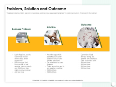 Startup Presentation For Collaborative Capital Funding Problem Solution And Outcome Ppt Styles Images PDF