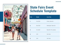 State Fairs Event Schedule Template Ppt PowerPoint Presentation Introduction PDF