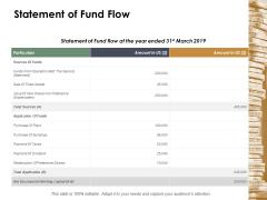Statement Of Fund Flow Ppt Powerpoint Presentation Inspiration Elements