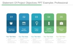Statement Of Project Objectives Ppt Examples Professional