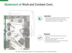 Statement Of Work And Contract Cont Insurance Ppt PowerPoint Presentation Summary Deck
