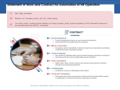 Statement Of Work And Contract For Automation Of HR Operation Ppt PowerPoint Presentation Layouts Structure PDF