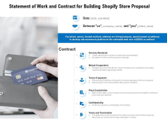 Statement Of Work And Contract For Building Shopify Store Proposal Ppt PowerPoint Presentation Layouts Deck
