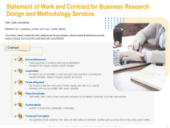 Statement Of Work And Contract For Business Research Design And Methodology Services Elements PDF