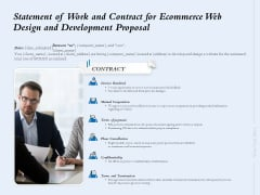 Statement Of Work And Contract For Ecommerce Web Design And Development Proposal Ppt Layouts Graphics Tutorials PDF