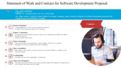 Statement Of Work And Contract For Software Development Proposal Ppt Infographic Template Graphic Images PDF
