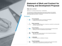 Statement Of Work And Contract For Training And Development Proposal Ppt PowerPoint Presentation Model Designs Download