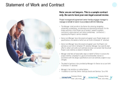 Statement Of Work And Contract Ppt PowerPoint Presentation Gallery Layouts