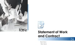Statement Of Work And Contract Ppt PowerPoint Presentation Infographics Background