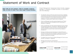 Statement Of Work And Contract Ppt PowerPoint Presentation Infographics Picture