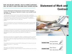 Statement Of Work And Contract Ppt PowerPoint Presentation Inspiration Outline