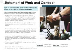 Statement Of Work And Contract Ppt PowerPoint Presentation Model Background Designs