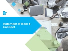 Statement Of Work And Contract Ppt PowerPoint Presentation Model Infographics
